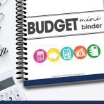 Are your finances out of control? It's time to get your budget in tip-top shape! Use the free printable Mini Budget Binder to help organize your finances!