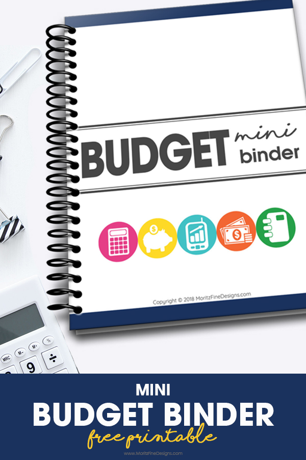 photograph regarding Free Printable Budget Binder Worksheets called Mini Finances Binder Free of charge Printable Down load