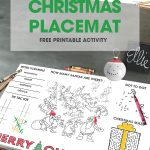 Make Christmas even more fun for the kids...at mealtime use the free printable Christmas Placemat so the kids have lots of fun activities to work on.