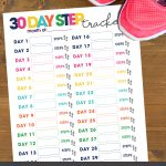 It's time to get your body moving! Challenge yourself to meet your step goal by tracking your daily steps for 30 days with this free printable.