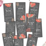 Hide God's Word in your heart with these Bible Verse Cards for womens. Print these free printable Scripture Memory Cards and start learning!