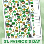 Kids will have a blast with this fun free printable St. Patrick's Day I Spy Activity. It's the perfect game for in the car, at a party or at school or home!