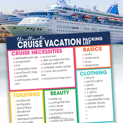 Don't get on that cruise boat without using the free printable Cruise Packing Checklist, your surefire way to make sure you have everything you need.