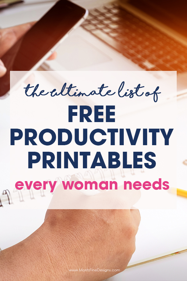 You CAN have the productive life you've been wanting. This Ultimate List of Free Productivity Printables has everything you need to be more productive.
