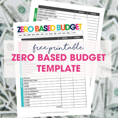 Avoid all of the unexpected! Use the Zero Based Budget Printable to budget your entire income and allocate all of it to your debts and expenses.