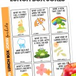 Give your kids a big laugh at lunch time by putting Spring Lunch Box Jokes in their lunch! These free printable jokes for kids are fun for kids of all ages!