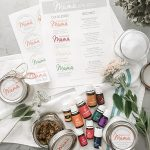 Essential Oils Homemade Spa Kit   DIY Essential Oil Recipes   free printables   perfect gift for mom or yourself