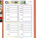 Can't keep track of what size clothing each of your family members wear? Use the Family Clothing Size Tracker to easily track who wears what size!