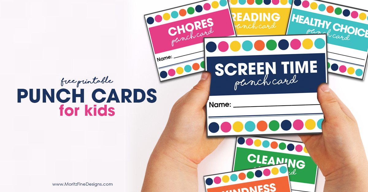 image about Printable Punch Cards referred to as Printable Punch Playing cards for Small children Moritz Fantastic Models