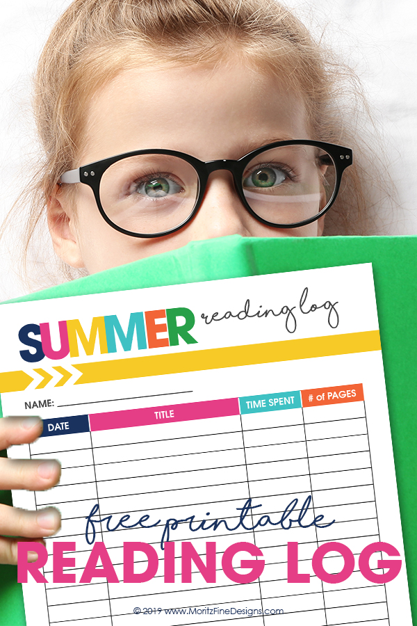 Keep track of books, number of pages and time read this summer with the free printable Summer Reading Log for Kids and Adults.
