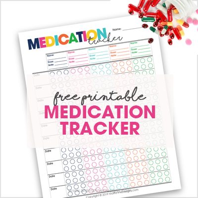 The free printable Medication Tracker is perfect for regular or one time prescriptions.It can be used for all ages-babies, kids, adults and senior citizens.