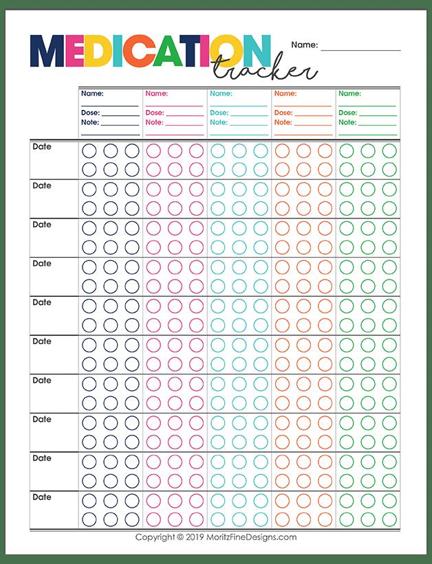 Refreshing image with free printable medication tracker