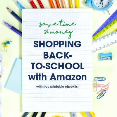 Save Time & Money by Shopping Amazon for Back to School
