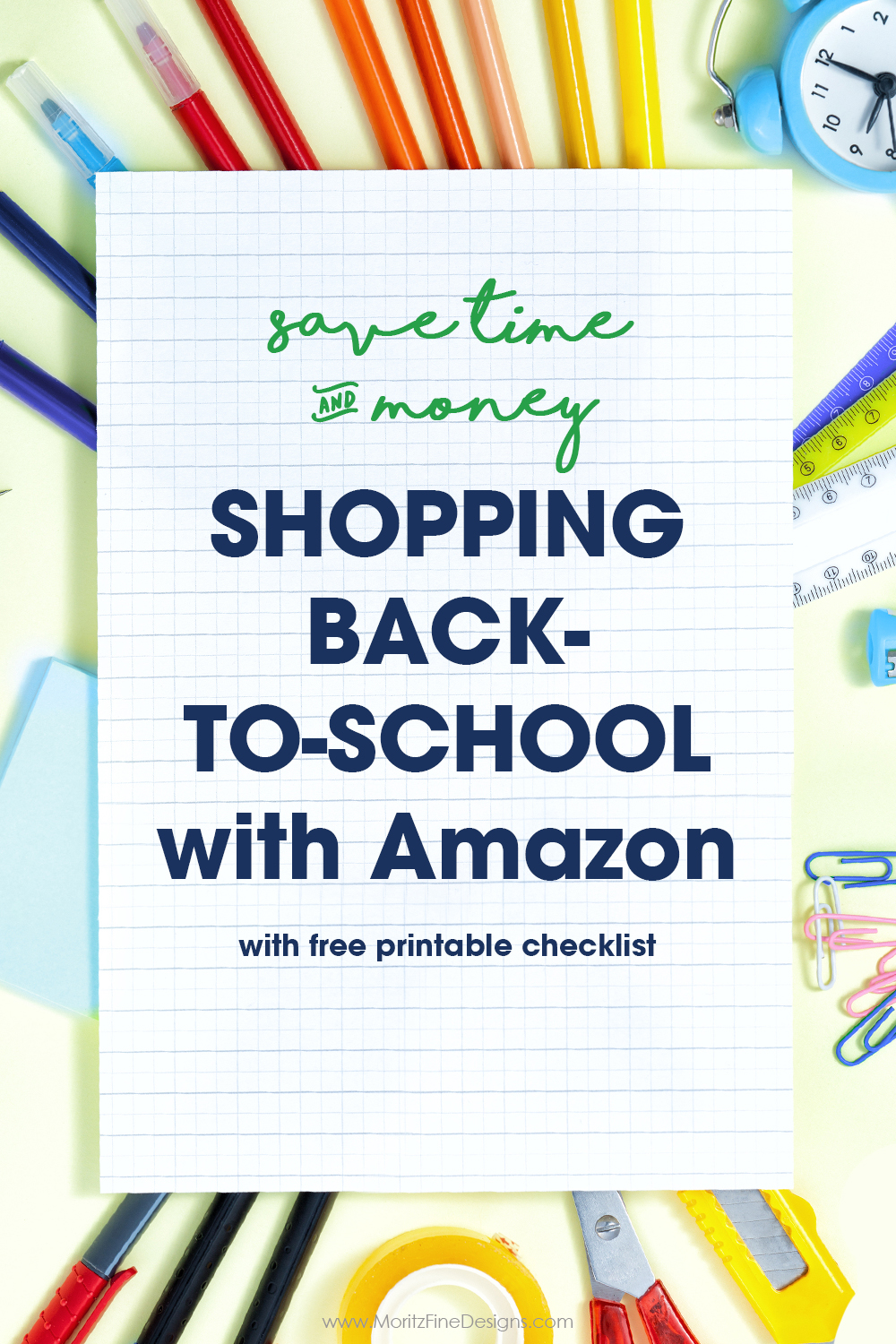 Skip the hassle of shopping big box stores and save time and money by shopping Amazon for back to school supplies and necessities!