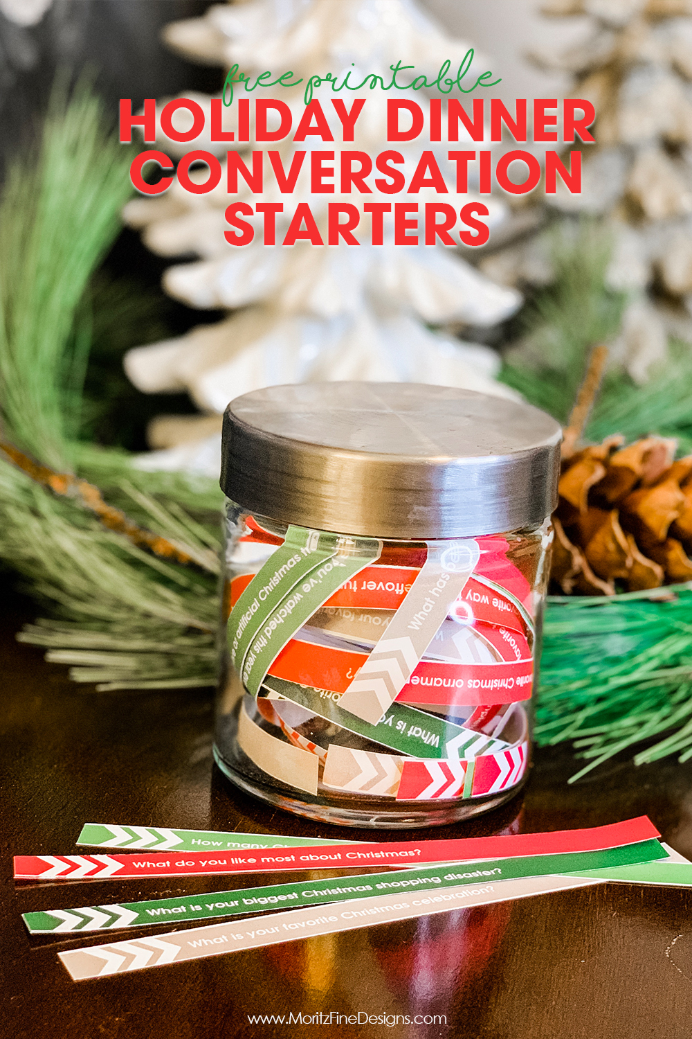 Skip the awkward holiday dinner conversation--use these fun Holiday Dinner Conversation Starters to enable a healthy and fun dinner discussion.