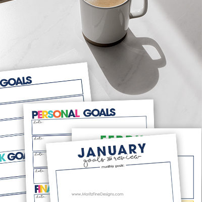 Make your goals attainable! Use the free printable Goal Planner to create and review your goals each month of the year. Easy to download and print.