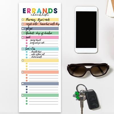 Errands Checklist Printable
