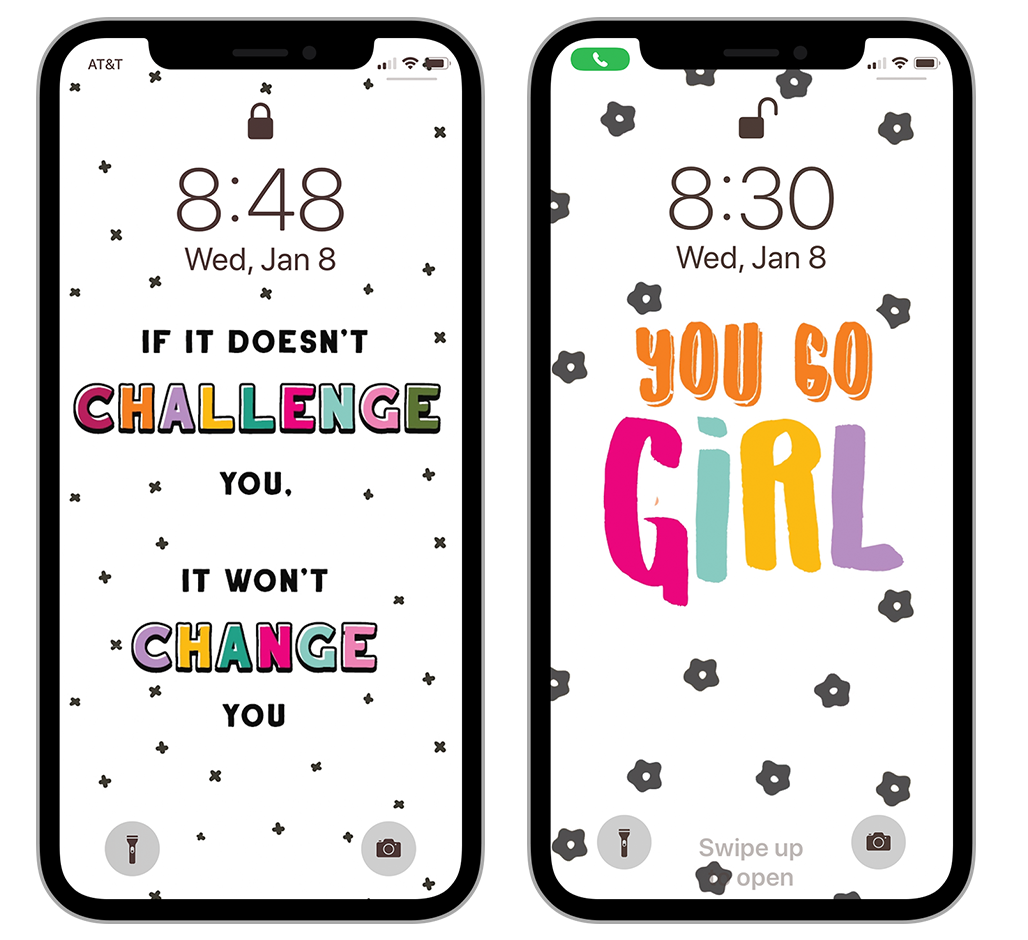 Give your phone a new look and motivate yourself at the same time with these free motivational phone lock screen wallpaper backgrounds.