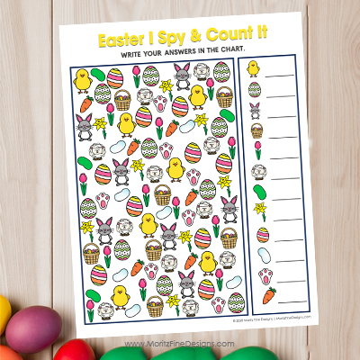 Easter I Spy and Count It Activity