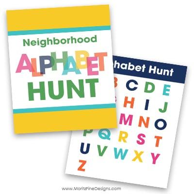 Neighborhood Alphabet Hunt