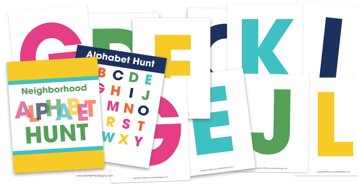 It's easy to get the whole neighborhood to join in the Neighborhood Alphabet Hunt! Kids will love getting outside to search for all the letters!