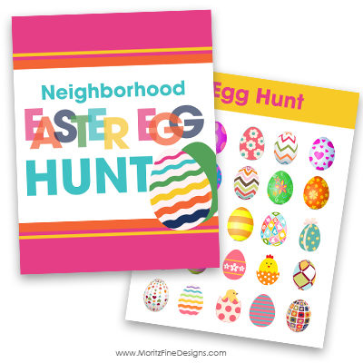 It's easy to get the whole neighborhood to join in the Neighborhood Easter Egg Hunt! Kids will love getting outside to search for all the colorful eggs!