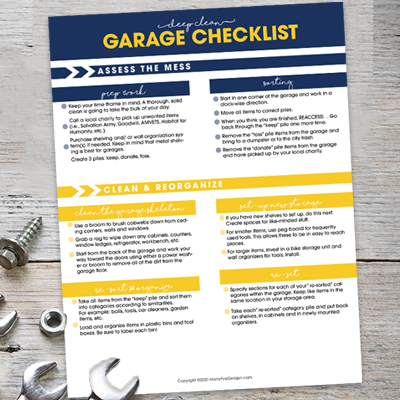 Deep Clean Garage Checklist
