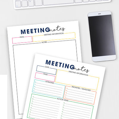 Be more productive in any meeting you attend--use the Meeting Notes Tool to make sure every discussion get accounted for.
