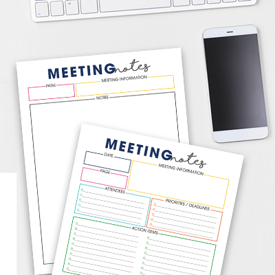 Meeting Notes Action List