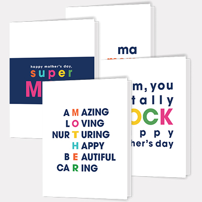 Set of 4 Printable Mother's Day Cards