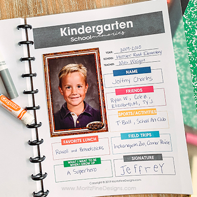 School Memory Binder