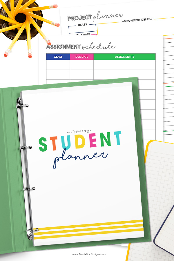 Every student can be organized this school year with the free printable Student Planner.