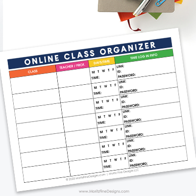 Virtual School Class Planner