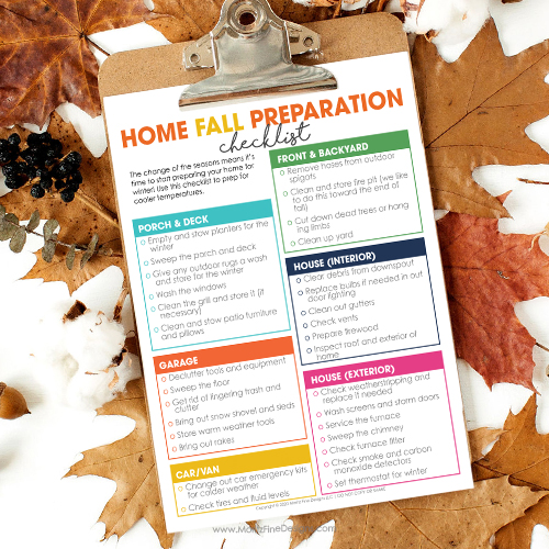 Home Fall Preparation Checklist