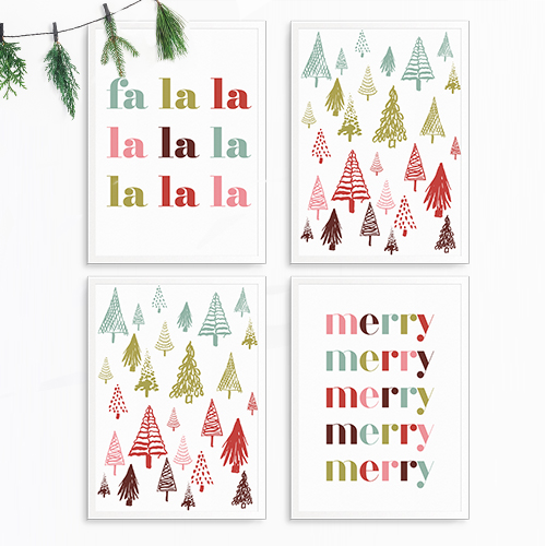 Decorate your home for Christmas in no time at all with these free Printable Chrristmas Prints. Easy to print, frame and hang.