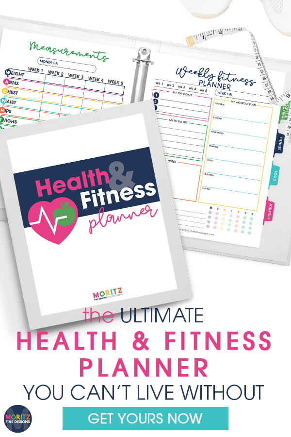 Our Health & Fitness Planner will help you push past the obstacles that have kept you from achieving the healthy lifestyle you want.